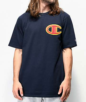 Champion Floss Stitch C Navy T-Shirt