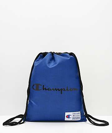 Champion Forever Double Sack Blue Gym Cinch Bag df0b535bda7d6