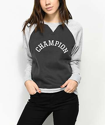 Champion Grey Crew Neck Sweatshirt