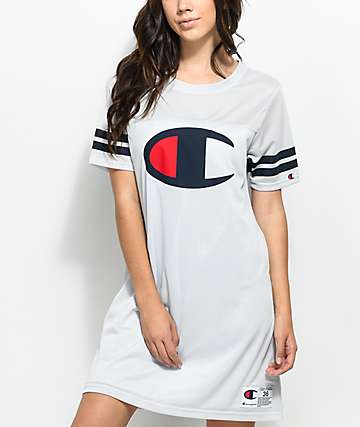Champion Grey Mesh Jersey Dress