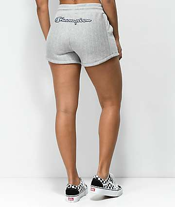 Champion Grey Pinstripe Reverse Weave Shorts