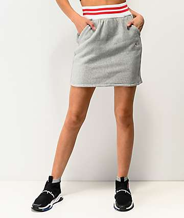 Champion Grey Ribbed Mini Skirt