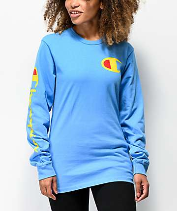 Champion Heritage Active Blue Long Sleeve T-Shirt