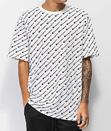Champion Heritage All Over Print camiseta blanca