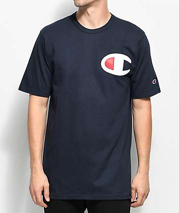 Champion Heritage Big C Navy T-Shirt
