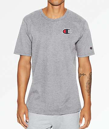 Champion Heritage Big C Oxford Grey T-Shirt