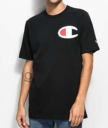 Champion Heritage Big C Patch Black T-Shirt