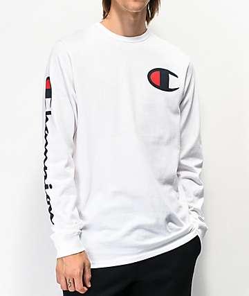 Champion Heritage Big C White Long Sleeve T-Shirt