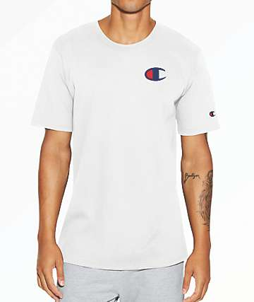 Champion Heritage Big C White T-Shirt