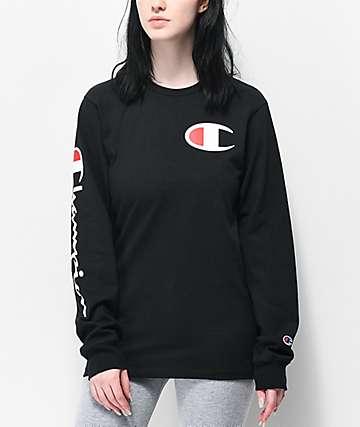 1b5532e9fb7 Champion Heritage Black Long Sleeve T-Shirt