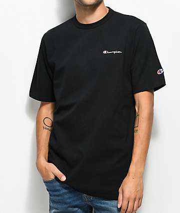 887f0186a Champion Heritage Embroidered Script Black T-Shirt
