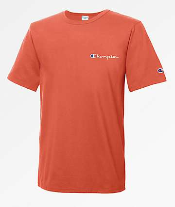 Champion Heritage Embroidered Script Papaya T-Shirt