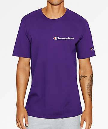 Champion Heritage Embroidered Script Purple T-Shirt