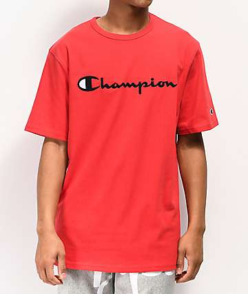 245f07f177089 Champion Heritage Embroidered Script Red T-Shirt