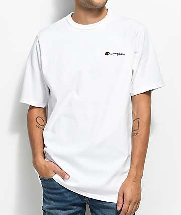 Champion Heritage Embroidered Script White T-Shirt