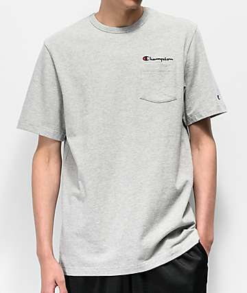 e1b7d2cb Champion Heritage Grey Pocket T-Shirt