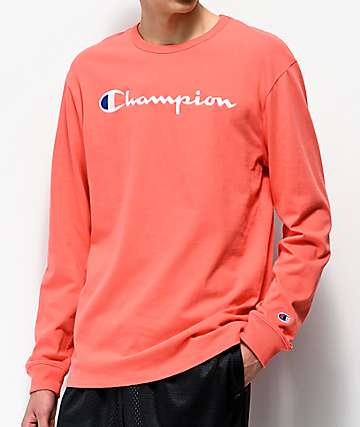 Champion Heritage Groovy Papaya Long Sleeve T-Shirt