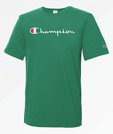 Champion Heritage Large Script Kelly Green T-Shirt
