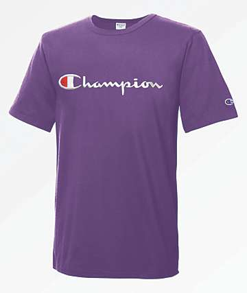 Champion Heritage Large Script Purple T-Shirt