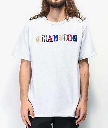 Champion Heritage Old English C Logo Grey T-Shirt