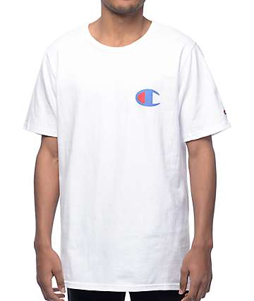 Champion Heritage Patriotic C White T-Shirt