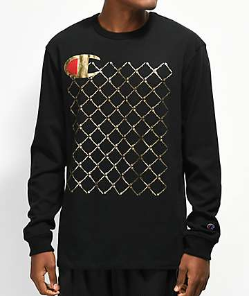 Champion Heritage Quilt Black Long Sleeve T-Shirt