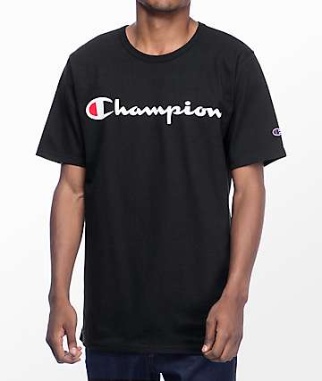 Champion Heritage Script Black T-Shirt