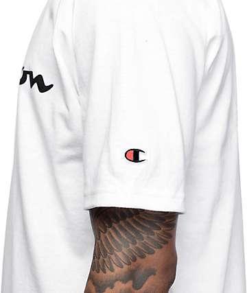 Champion Heritage Script Logo White T-Shirt