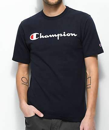 Champion Heritage Script Navy T-Shirt