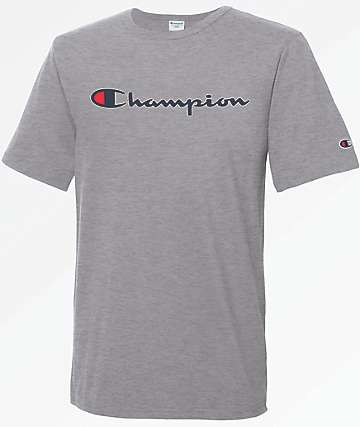 Champion Heritage Script Oxford Grey T-Shirt