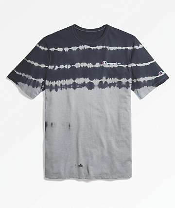 Champion Heritage Streak Dye Grey & Black T-Shirt