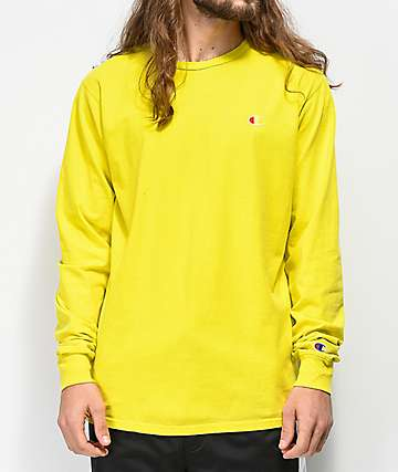 Champion Heritage Tart Yellow Dyed Long Sleeve T-Shirt