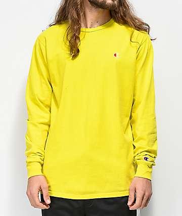 Champion Heritage Tart Yellow Dyed Long Sleeve T-Shirt