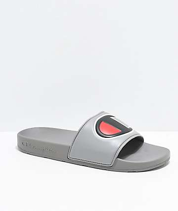 Champion IPO Grey Slide Sandals