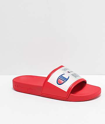 895bdebb23b Champion IPO Jock Red Slide Sandals