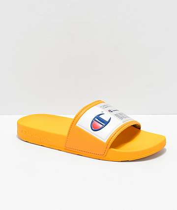 ca2e2618879 Champion IPO Jock Yellow   White Slide Sandals