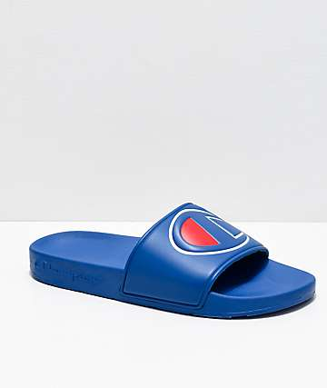 0b4ae9bd0 Champion IPO Royal Blue Slide Sandals