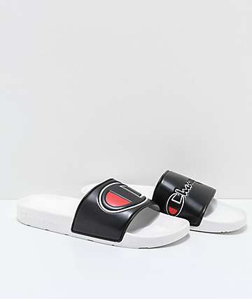 Champion IPO sandalias negras y blancas