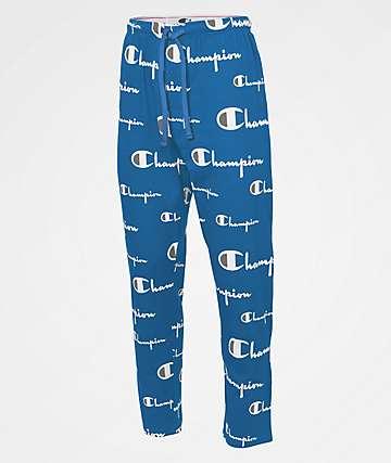 Champion Jersey Print Blue Sleep Pants