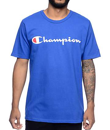Champion Logo camiseta azul