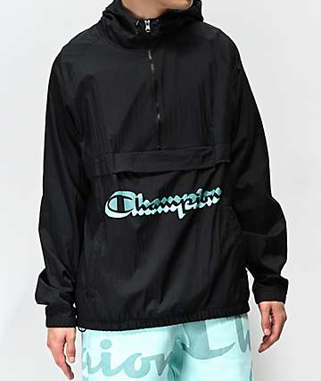 4e5182bedb1267 Champion Manorak Black Anorak Jacket