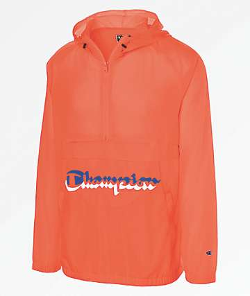 Champion Manorak Groovy Papaya Anorak Windbreaker Jacket