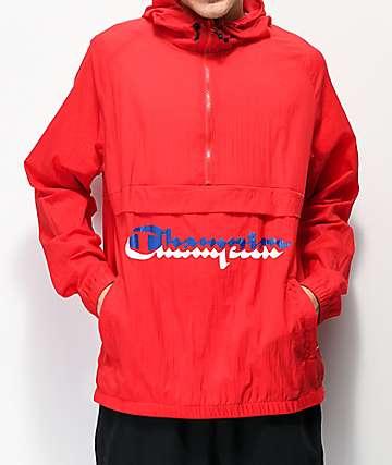 cac9a900d351f Champion Manorak Scarlet Anorak Jacket