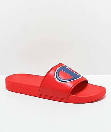 1240c13c939 Champion Men s IPO Red Slide Sandals
