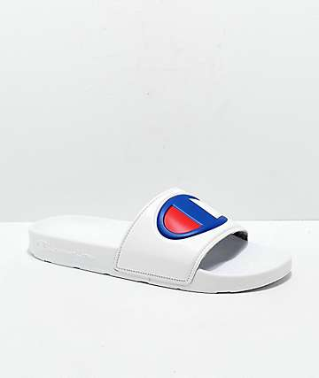 305d021800e Champion Men s IPO White Slide Sandals