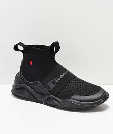 Champion Mens Rally Black Shoes