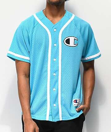 Champion Mesh Tidal Blue Baseball Jersey