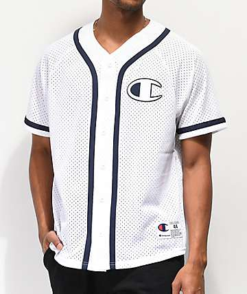 Champion Mesh White Baseball Jersey
