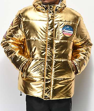 Champion Metallic Gold Puffer Jacket