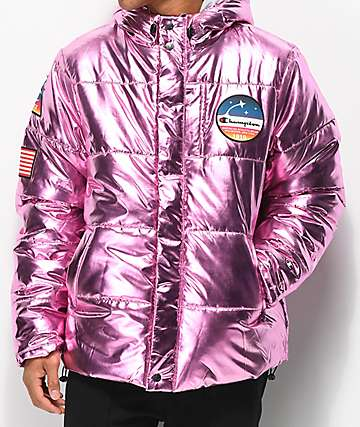 Champion Metallic Pink Puffer Jacket